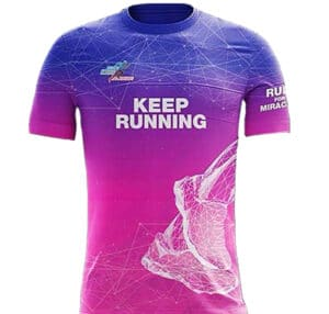 t shirt of keep running and run for miracles
